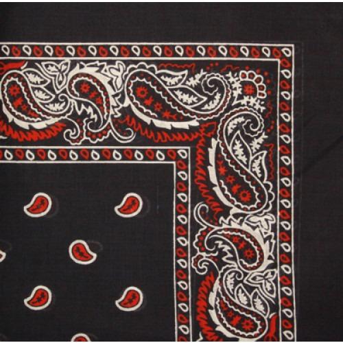 Bandana Navyblåt med Rødt og Hvidt Tryk