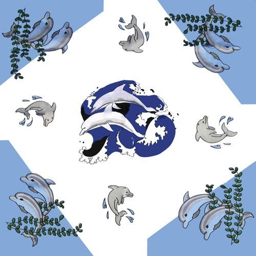 Bandanna Blå Delfiner