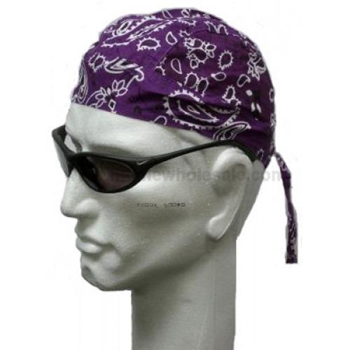 Purple Paisley Head Wrap Zandana Bandana