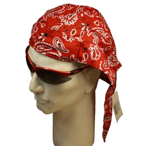 rød paisley head wrap