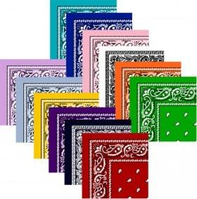 12 Stk Bandanas DeLuxe Valuepack i 12 forskellige Farver
