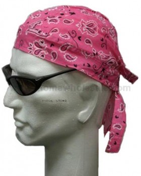 Pretty in Pink Headwrap Bandana