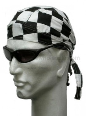 checkered head wrap