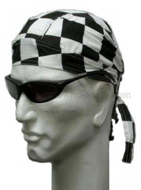checkered head wrap