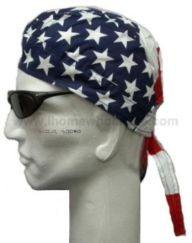 USA Flag Stars and Stripes Head Wear
