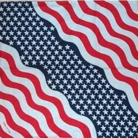 Bandana Wavy US Flag Bandanna